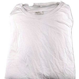 Mens White Crewneck Tag Free T-shirt Pack of 4